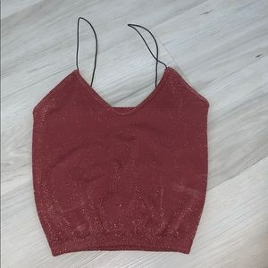 Free people red sparkly tank
